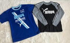 子供用プーマ ロンT 半袖Tシャツセット 150と160センチ