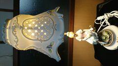 愛新陶器…女神据え置き蛍光灯電球…ラベルアリ