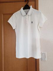 ¥2,149 LyCRA チビライオン刺繍 半袖 ポロシャツ ホワイト L