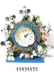 ゴージャス<陶器製>★オール*ミッキーマウス置き時計