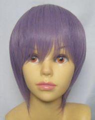 即納可能★即決★フルウィッグ マニッシュボブ 紫/パープルL5
