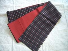 小花絣風刺繍紋様の 小袋帯・半幅帯