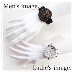 お得♪白黒2点セット【Sorriso】人気メンズ腕時計