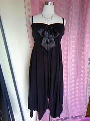 YES STUDIO胸元おリボンプリーツ&裾アシメがヒラヒラなドレス