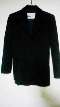 花咲 ジャケットコート 襟のステッチと背中の切替/黒/M/美品♪