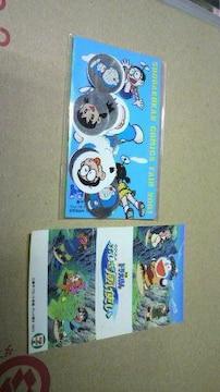 ドラえもん 小学館 コミックフェア2001 非売品シールとおまけ一枚