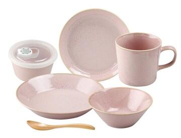 一人用 食器 6点セット ピンク