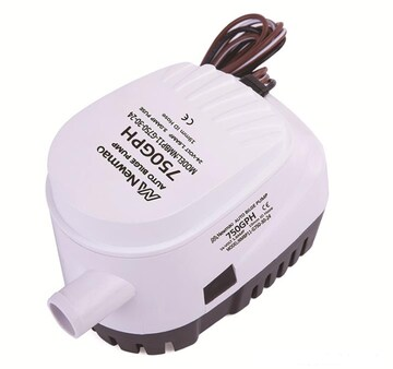 24V 750GPH 小型 水中ポンプ 47L/分 排水 くみ上げ 保証有り