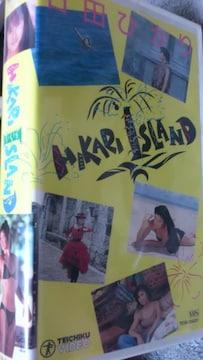 VHS『HIKARI.ISLAND』石田ひかり 全6曲収録-テレカ付き
