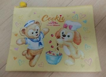 香港ディズニー限定●海外●ダッフィ&フレンズ●クッキー●大型フラットポーチ●新品