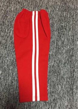 子供服 2本ライン 赤い長ズボン 36ヶ月