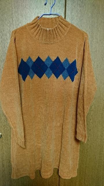 size:L  チュニック丈セーター★オレンジ  < 女性ファッションの
