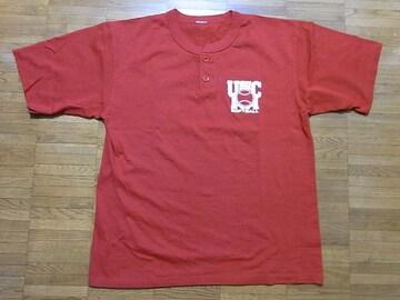 即決USA古着●ナンバリングロゴデザイン半袖Tシャツ赤!ビンテージアメカジ