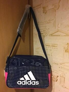 adidas  アディダス  ショルダーバッグ  スポーツバッグ  紺ピンク