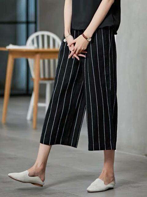 在庫処分★ラップワイドクロップドパンツ ブラック  < 女性ファッションの