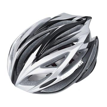 超軽量 サイクリングヘルメット シルバー