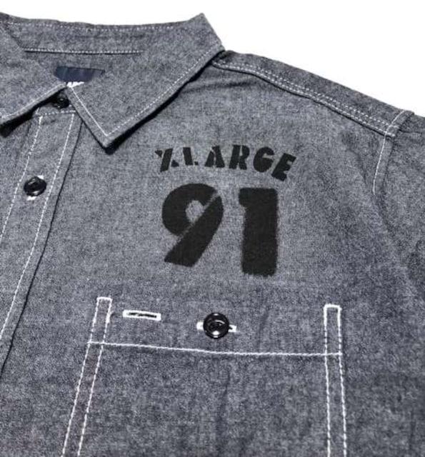 XLARGE エクストララージ ダンガリーシャツ < ブランドの