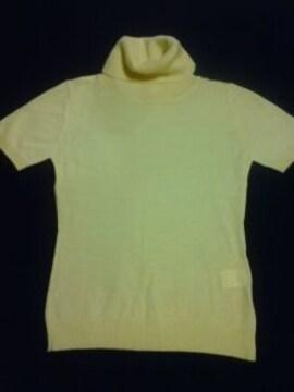 タートルネック半袖セーター黄色アゲハお姉CanCam新品 激安
