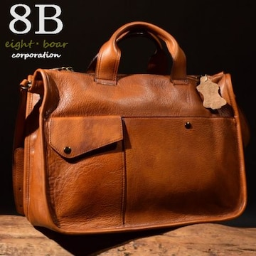★牛本革 B5サイズ  2WAYブリーフケース ブラウン◆茶k24