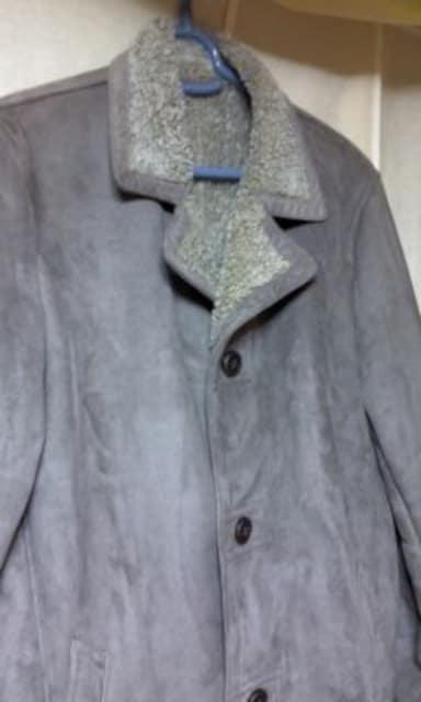 ★スエードタイプ ロングコート ユニクロ サイズM ベージュ系★ < 男性ファッションの