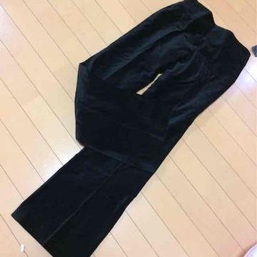新品◆ミッシュマッシュ◆ベルベットパンツ◆38ブラック