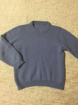 742.編み機☆セーター☆ブルー系