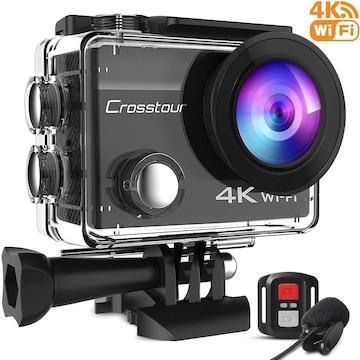 アクションカメラ 4K高画質2000万画素 webカメラ 水中カメラ