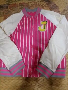 JN-ロゴスウェットスタジャン160ピンク