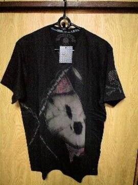 新品Roenロエン スタッズスカルクロスフラッグVネックTシャツ 48