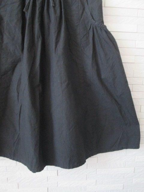 即決/無印良品/サイドポケットフレアコットンスカート/黒/W61 < ブランドの