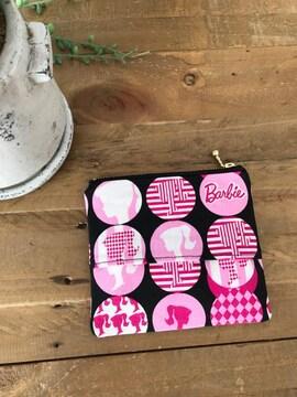 Barbie バービー ドットシルエット柄 ポケットティッシュポーチ