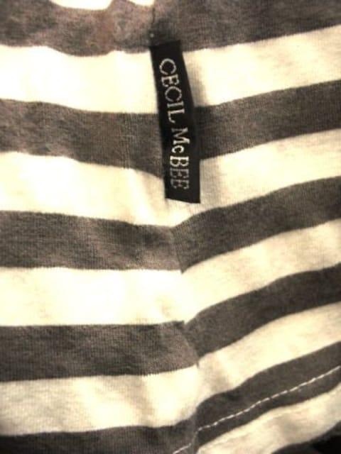 【セシルマクビー】チャコールグレー/オフホワイトのミニワンピース < ブランドの