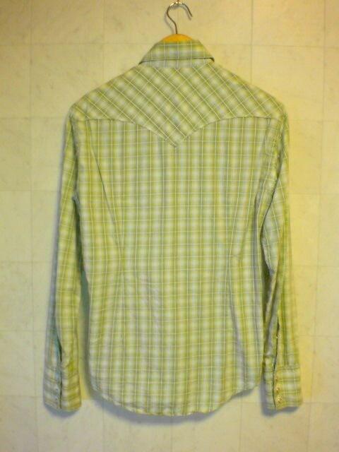 □ボナジョルナータ ウエスタン チェックシャツ/黄緑/メンズ☆新品☆コムサイズム < ブランドの