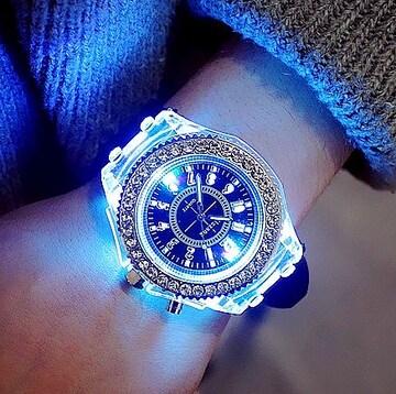 特A品 新品1円〜★送料無料★七色光る ダイヤモンド ブラックウォッチ腕時計