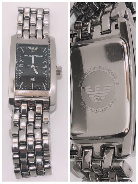T171★美品 EMPORIO ARMANI AR-0115クォーツ メンズ 腕時計 < ブランドの