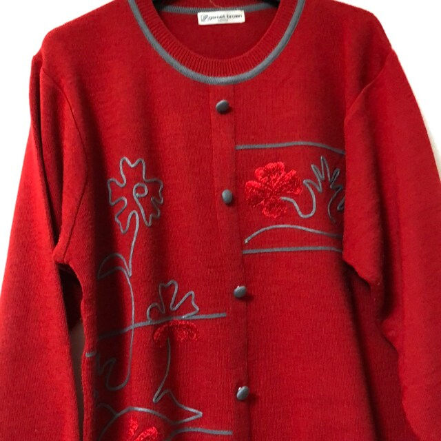 2Lサイズ 赤セーターレターパック520  < 女性ファッションの
