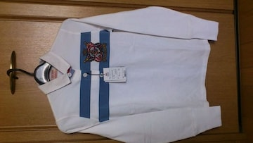 激安82%オフ刺繍、Polo、ポロラルフローレン、長袖ポロシャツ(新品タグ、白、L)