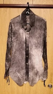 新品KMRIIケムリ LAYERED SHIRT/LEAU BLACK 1 別注