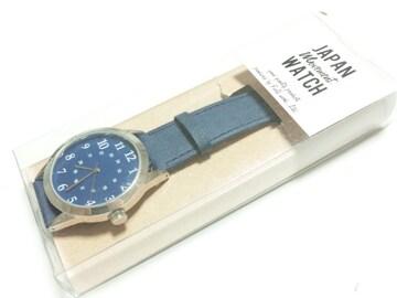 12601/未使用品のラウンドフェイスブルーダイヤル箱付き★メンズ腕時計