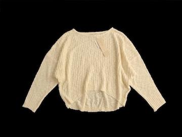 新品 定価3900円 defige アイボリー ニット セーター
