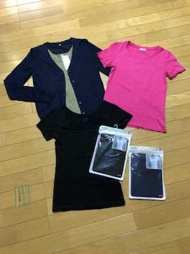 ■ユニクロ■カーデ+エアリズムTシャツ3枚+Tシャツ+タンク♪6枚セット