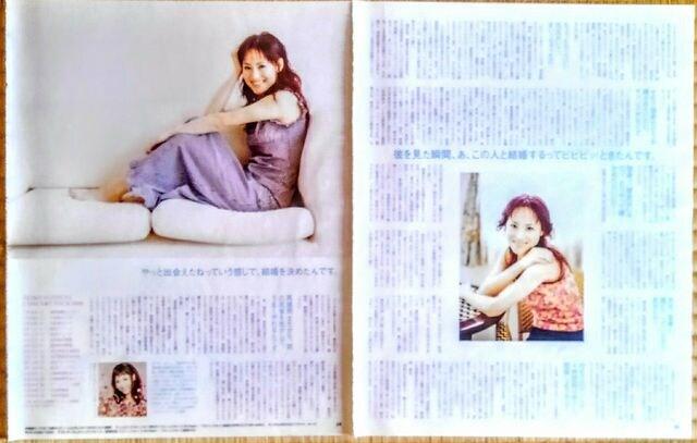 松田聖子 切り抜き 2000年 貴重 写真 ロング インタビュー < タレントグッズの