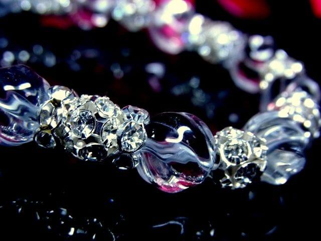 トルネードスクリュー水晶§10ミリ§波形銀ロンデル§丸形ボール銀ロンデル < 女性アクセサリー/時計の
