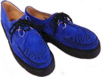 英国ジョージコックス3588ロイヤル ブルー スエードuk5