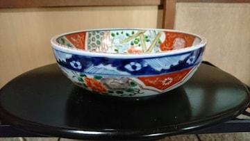 江戸期…古伊万里焼唐獅子舞孔雀赤絵…鉢
