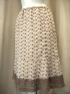 【レストローズ】茶系レースマーメイドスカートです