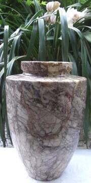 ★置き物/自然石オニックス大型「花瓶」コレクション中古品☆