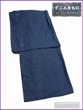 【和の志】女性用デニム着物◇Mサイズ◇ブルー系◇DNLM-3