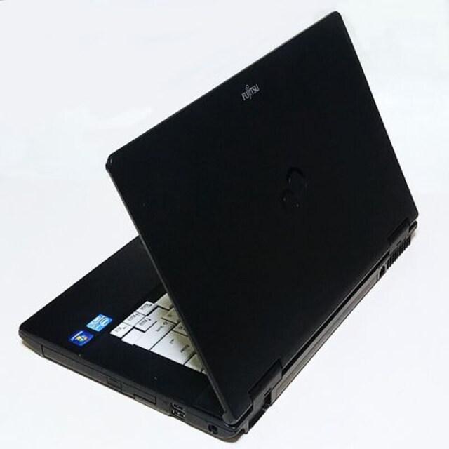 保証付 大画面15.6型 2世Core i5 Win10 無線 DVD LIFEBOOK A561 < PC本体/周辺機器の