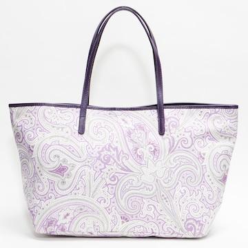 超美品エトロ トートバッグ ペイズリー 紫 新品同様 良品 正規品